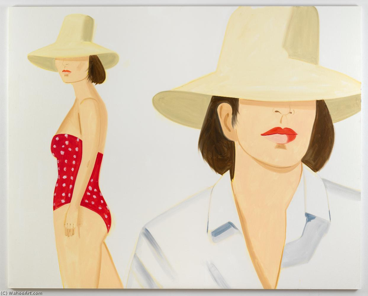 famous painting T008603 - (300dpi) of Alex Katz