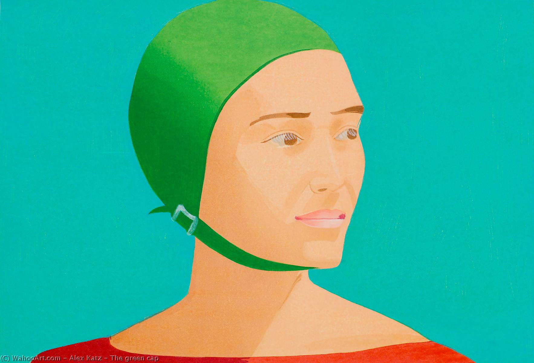 famous painting The green cap of Alex Katz
