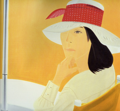 famous painting The red band of Alex Katz
