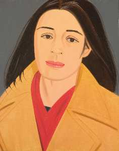 Alex Katz - The red scarf