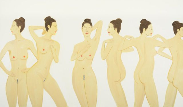 famous painting Untitled nudes of Alex Katz
