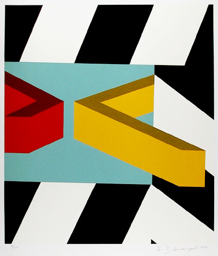 famous painting Caves of Allan D'arcangelo
