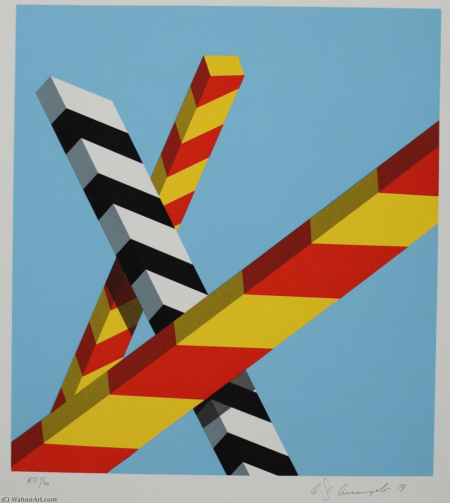 famous painting Sky bars of Allan D'arcangelo