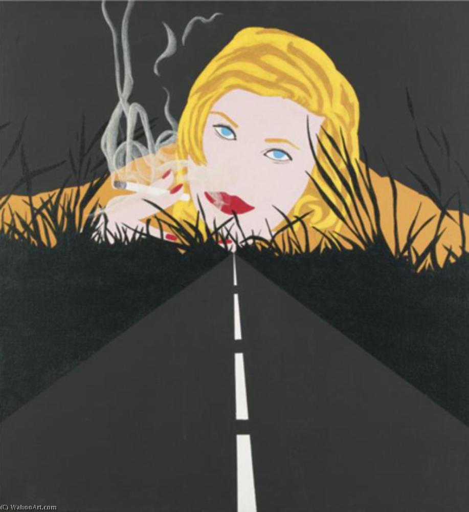 famous painting Smoke dream 2 (1963) of Allan D'arcangelo