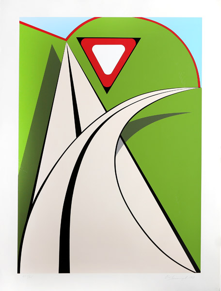 | Untitled - roadway yield by Allan D'arcangelo | BuyPopArt.com