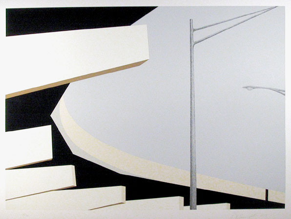 famous painting Untitled - under overpass of Allan D'arcangelo