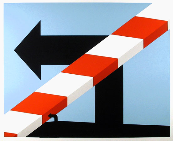 famous painting US Highway #1 of Allan D'arcangelo