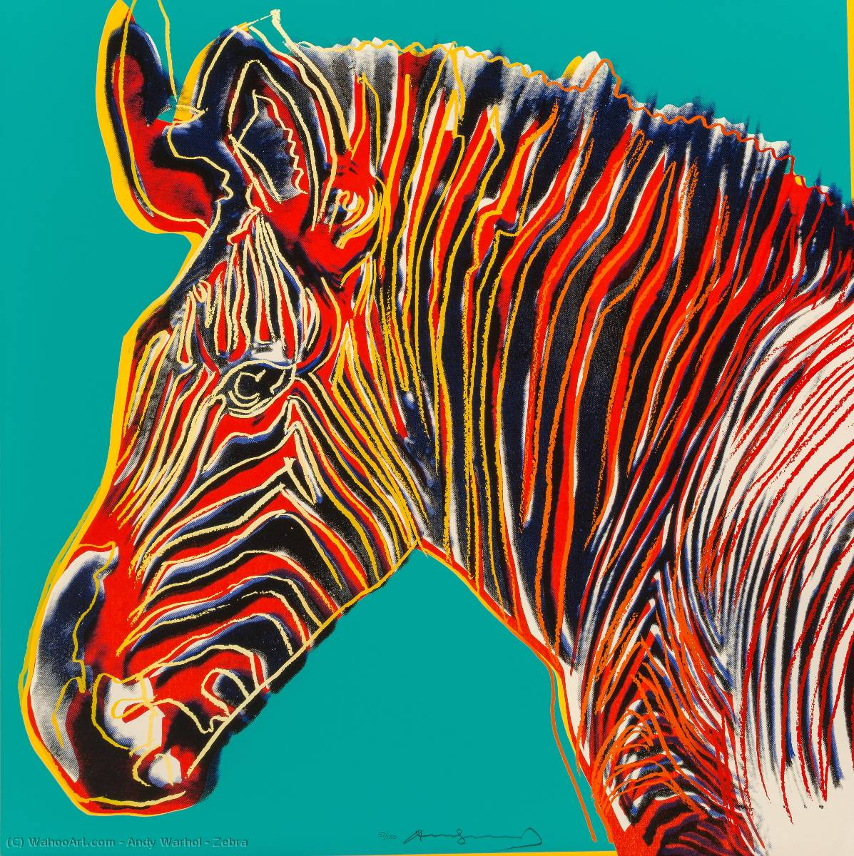 famous painting Zebra of Andy Warhol
