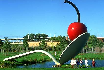 famous painting Spoonbride and Cherry (2) of Claes Oldenburg