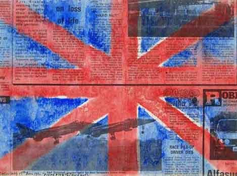 famous painting Flying flags of Colin Self