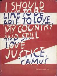 famous painting Love justice of Corita Kent