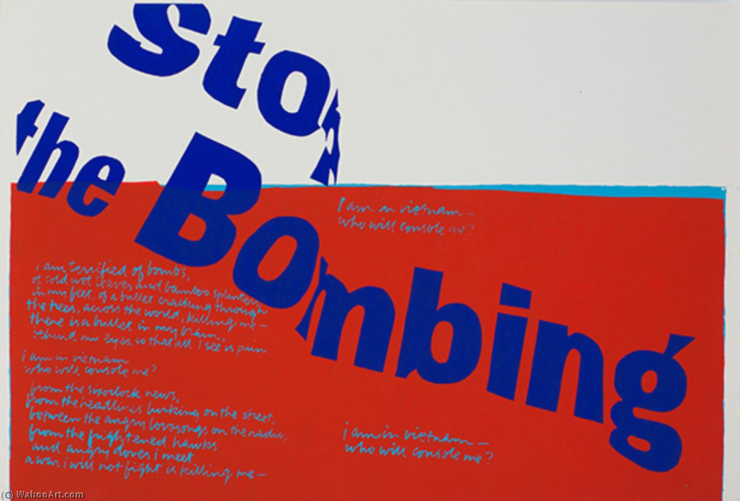 famous painting Stop the Bombing of Corita Kent
