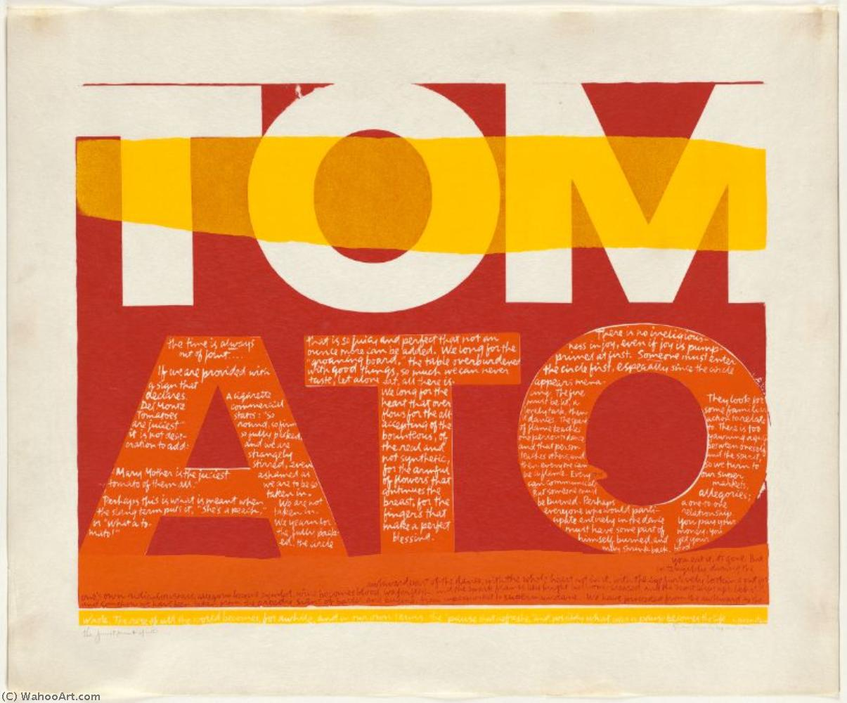 | The juiciest tomato of all serigraph by Corita Kent | BuyPopArt.com