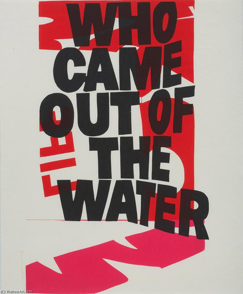 famous painting Who came out of the water of Corita Kent