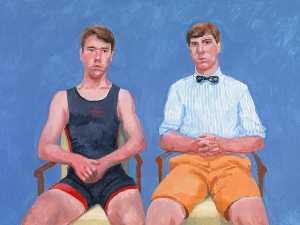 David Hockney - Augustus and Perry Barringer