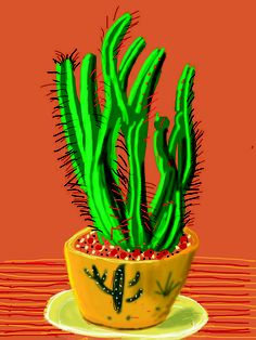 famous painting Cactus of David Hockney