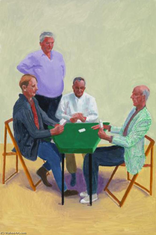 famous painting Card players #3 of David Hockney