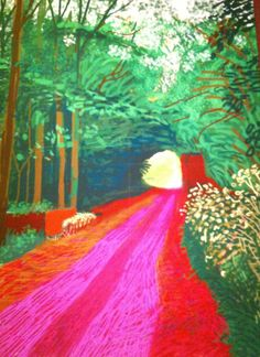 famous painting Drawing from life of David Hockney