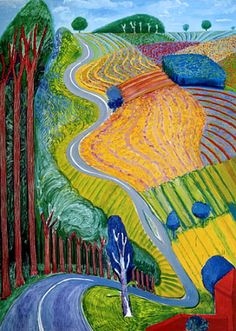 famous painting Going up Garrowby Hill of David Hockney