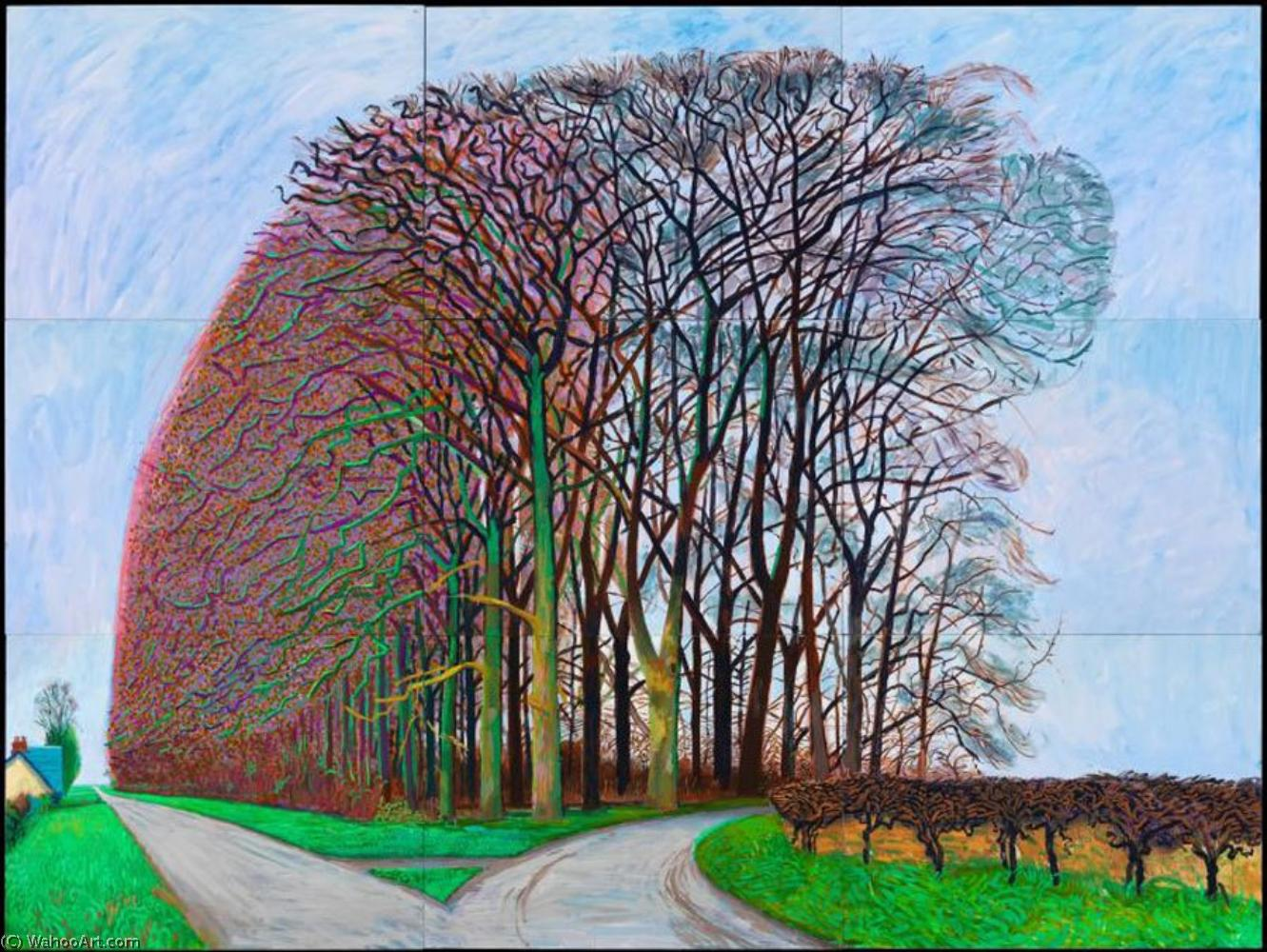 famous painting Untitled (588) of David Hockney
