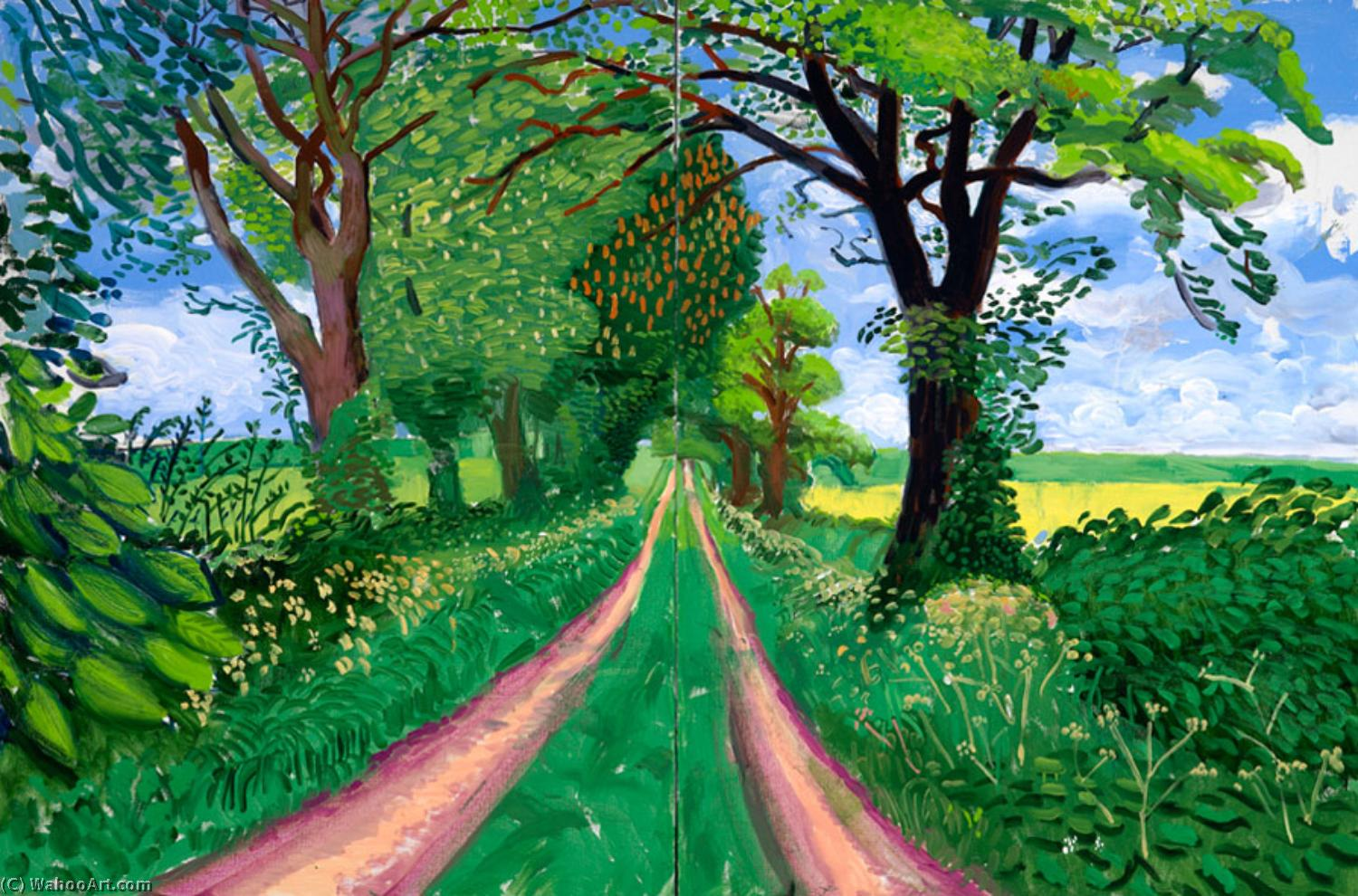 | Late spring tunnel by David Hockney | BuyPopArt.com