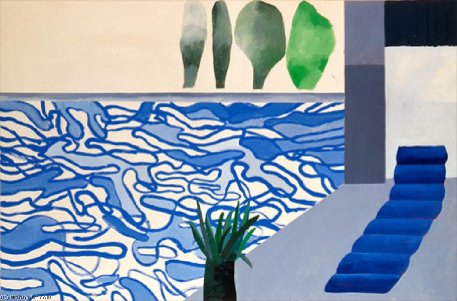 famous painting Pool of David Hockney
