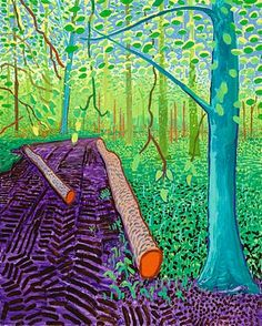 famous painting Spring lLandscape of David Hockney