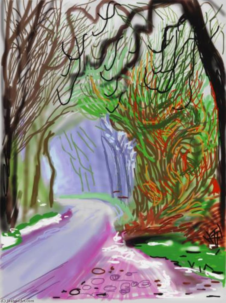famous painting The Arrival of Spring in Woldgate (2) of David Hockney