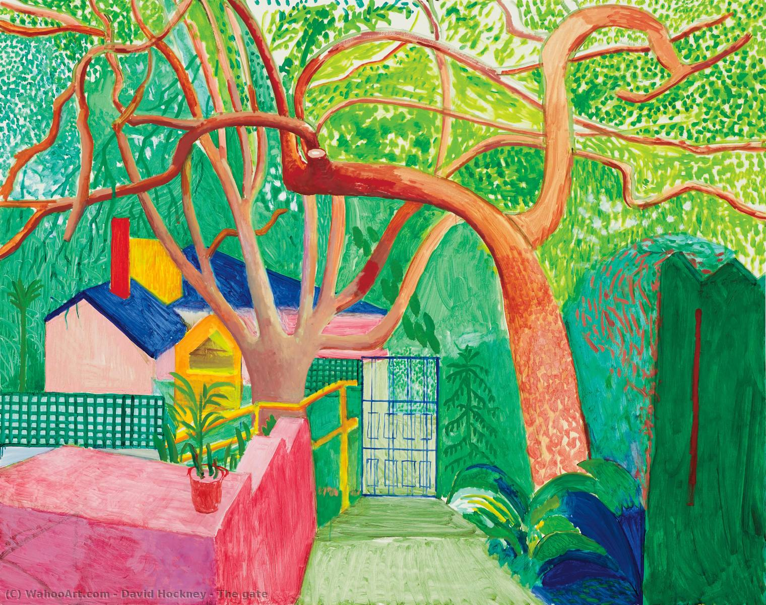 famous painting The gate of David Hockney