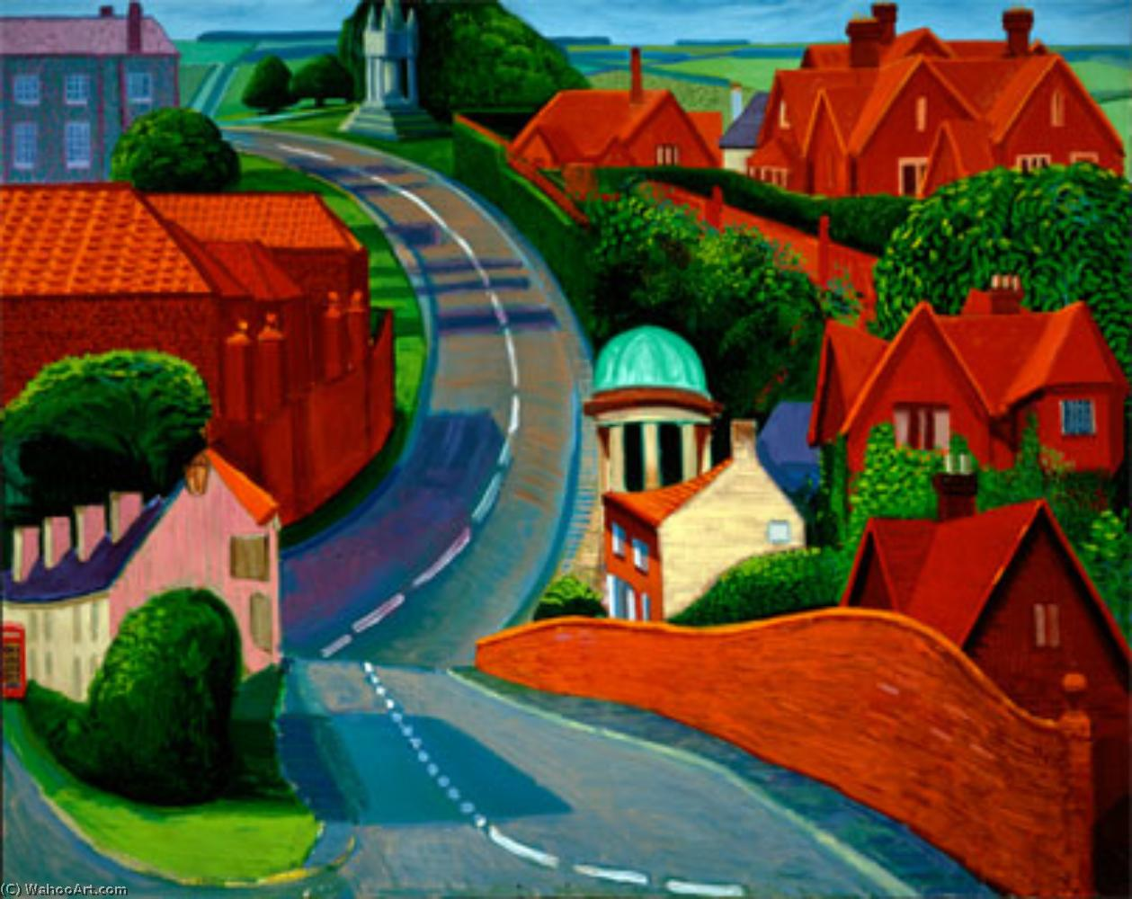 famous painting The Road to York through Sledmere of David Hockney