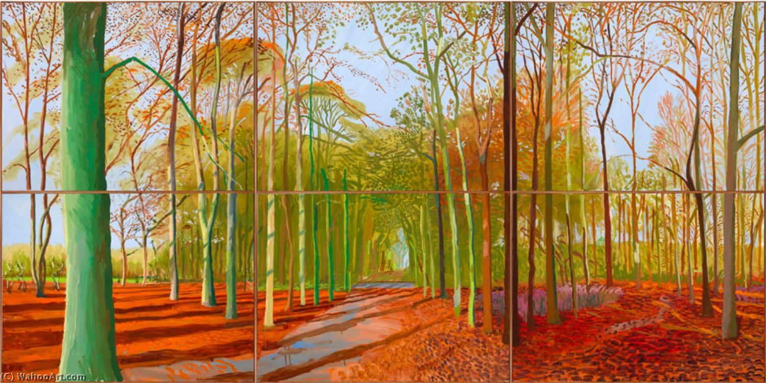 famous painting The valrave of David Hockney