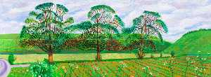 David Hockney - Three Trees near Thixendale