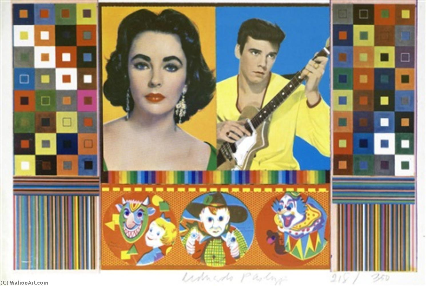 famous painting An Empire of Silly Statistics . . . A Fake War for Public Relations of Eduardo Paolozzi