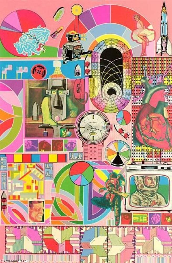 famous painting B.A.S.H. (Pink, Orange, Blue-Grey) of Eduardo Paolozzi