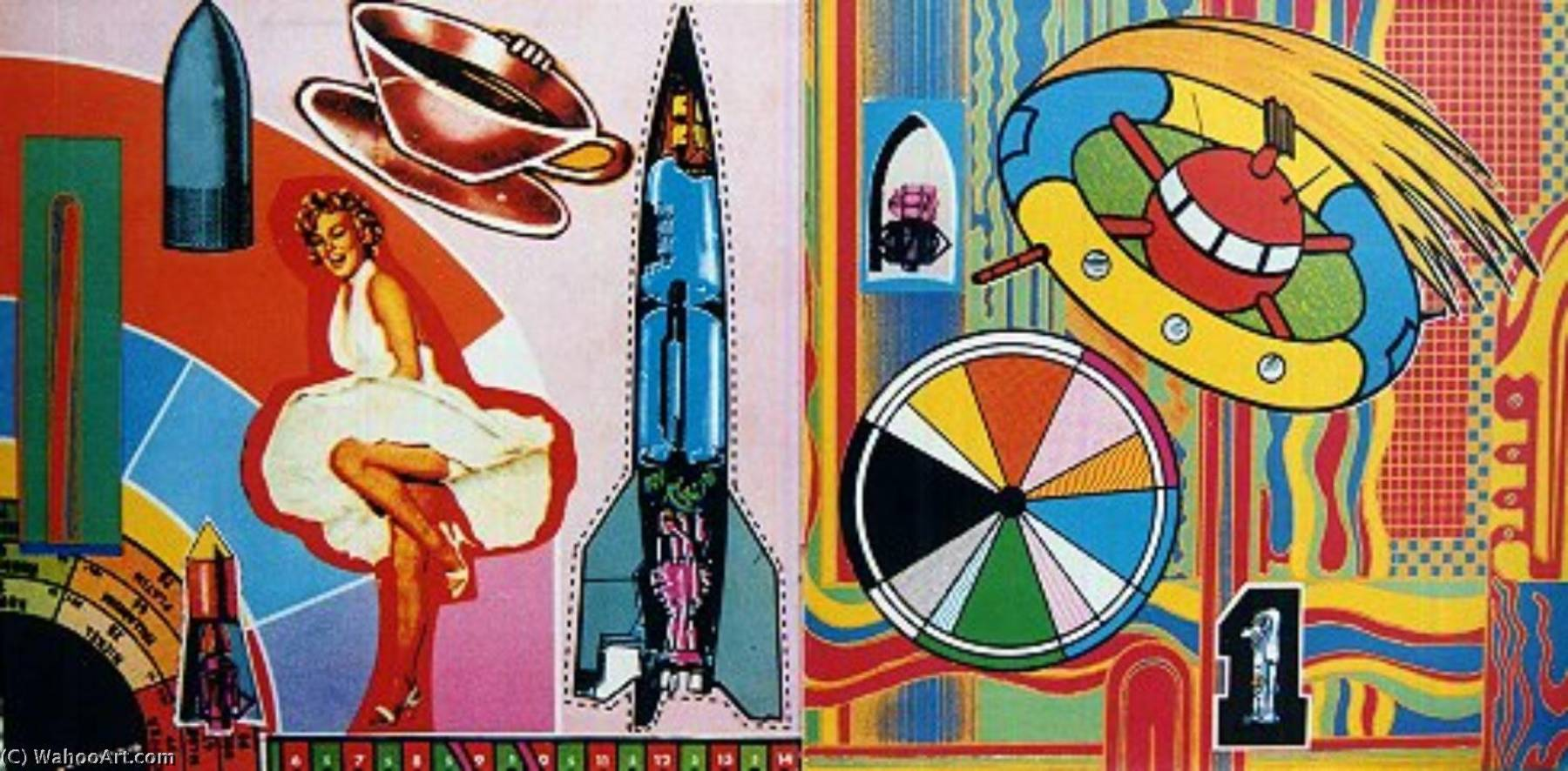 famous painting Inside gatefold of Eduardo Paolozzi