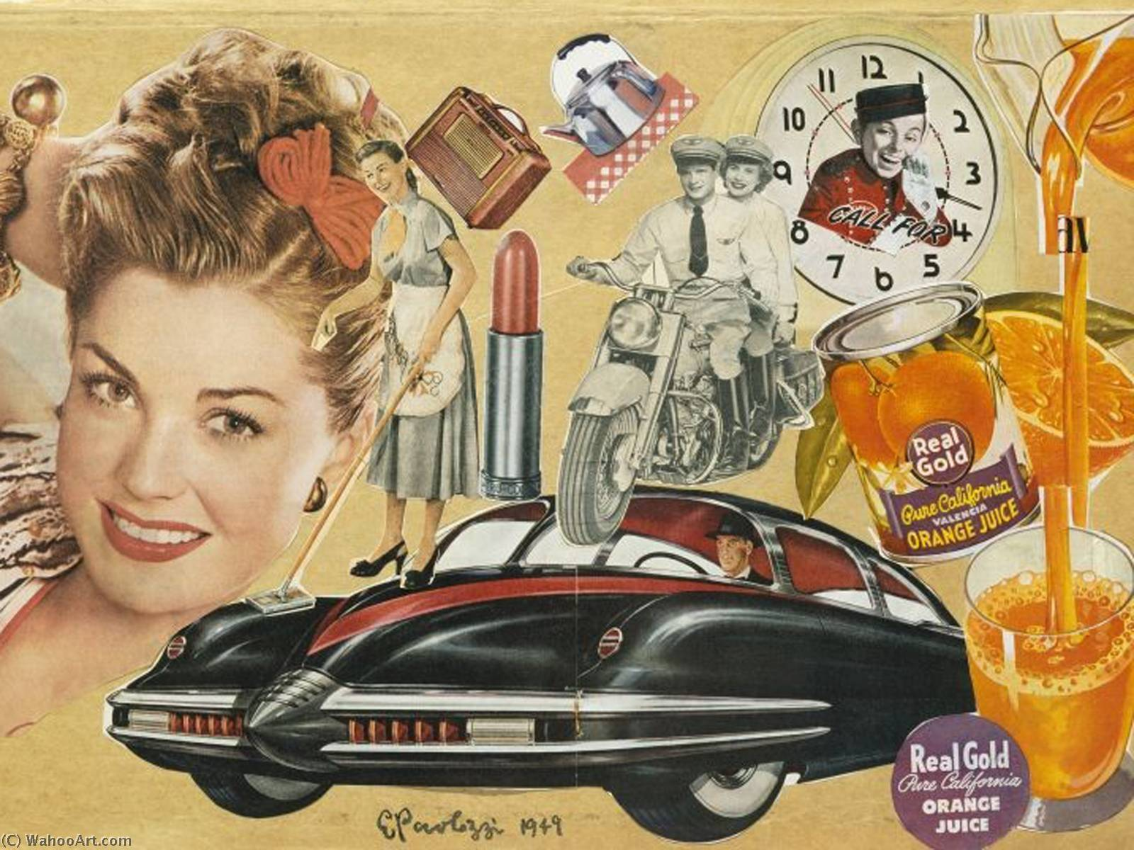 famous painting Real gold of Eduardo Paolozzi