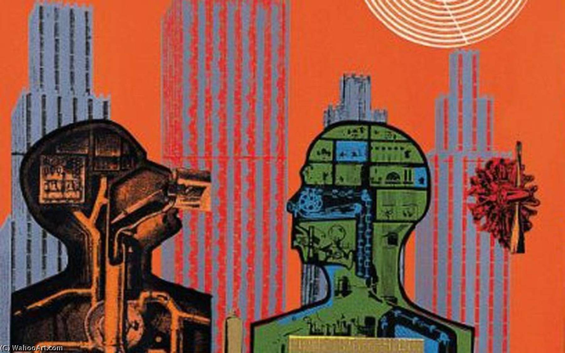 famous painting Wittgenstein in new york of Eduardo Paolozzi