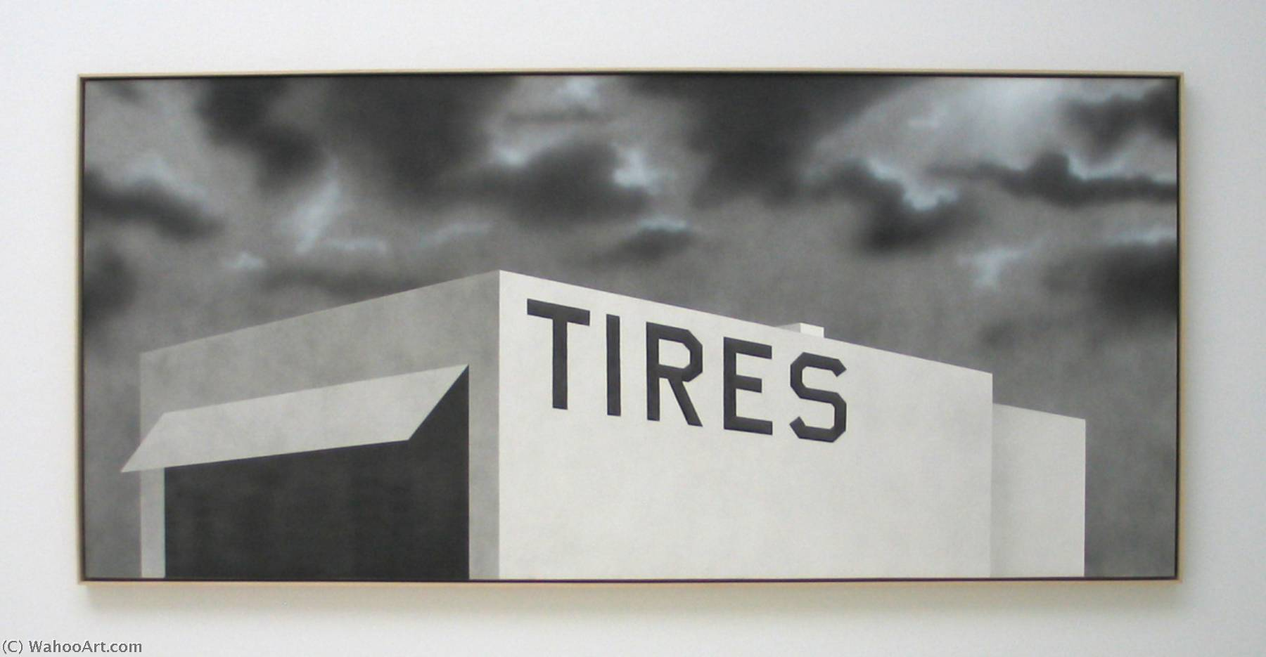 famous painting Blue collar tires of Edward Ruscha