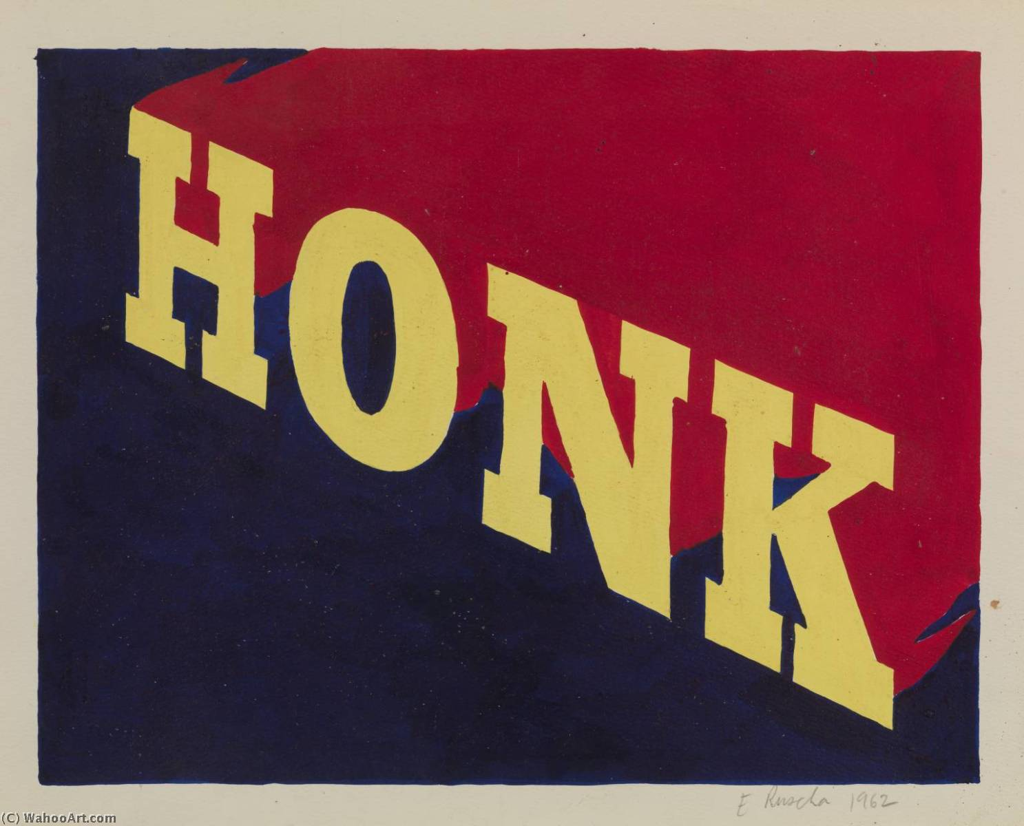 famous painting Honk of Edward Ruscha