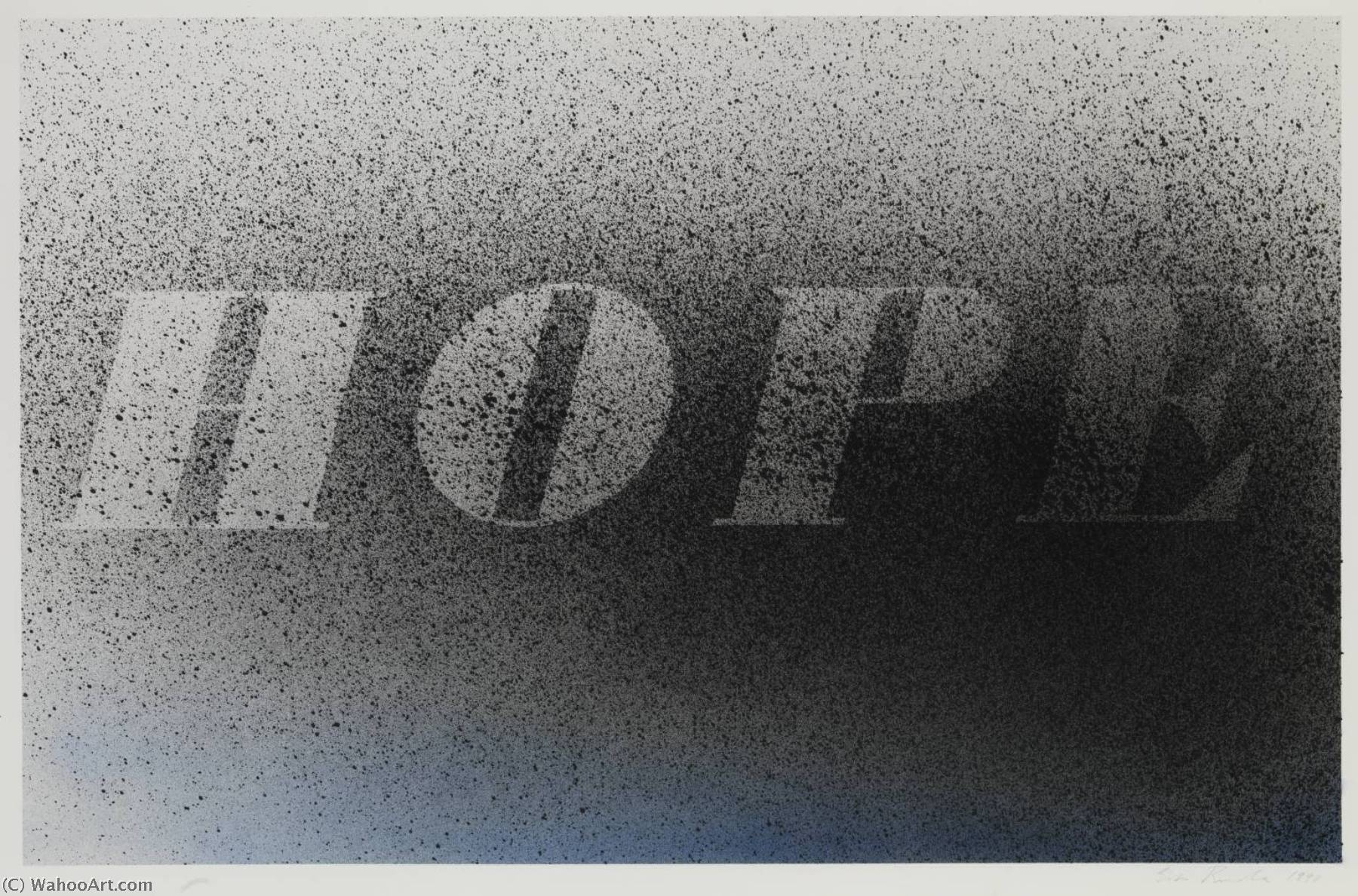 famous painting Hope of Edward Ruscha