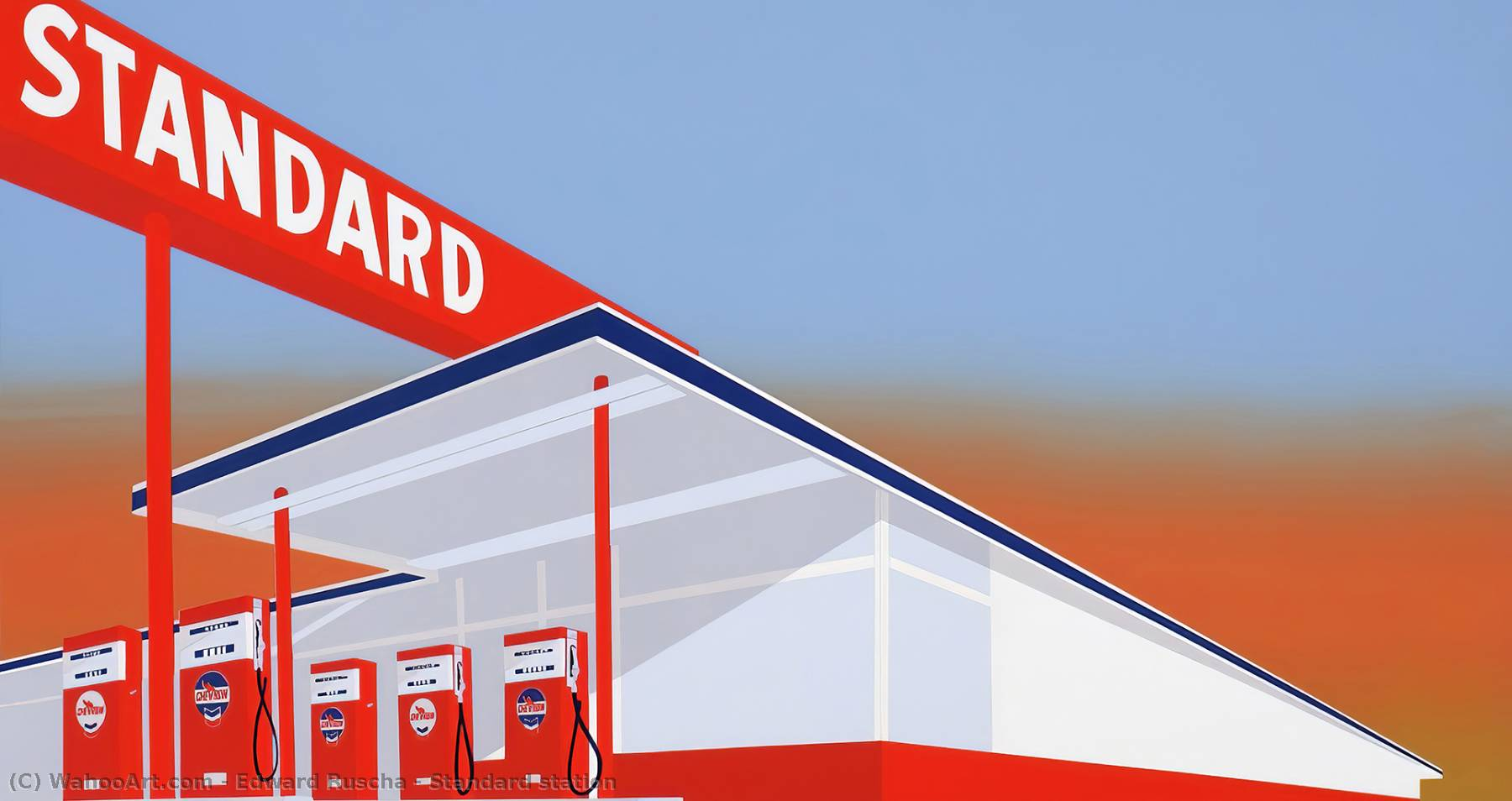 famous painting Standard station of Edward Ruscha