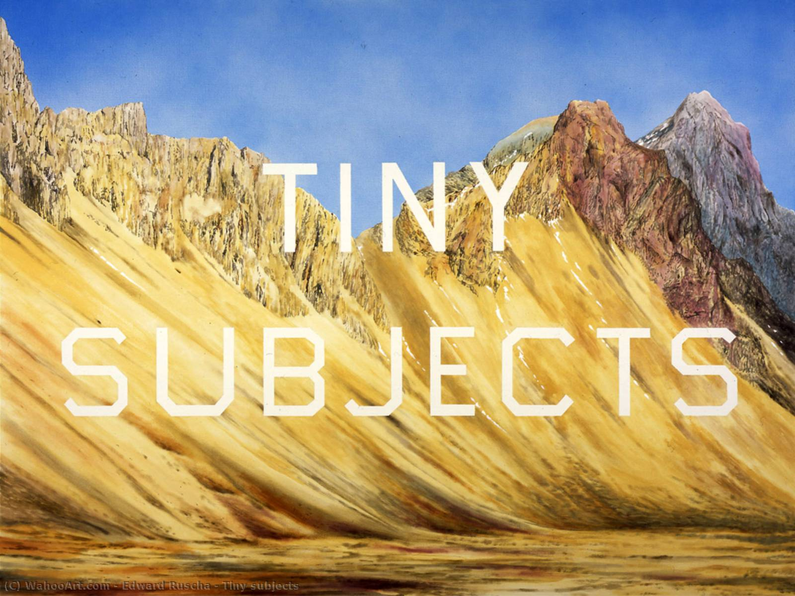 famous painting Tiny subjects of Edward Ruscha