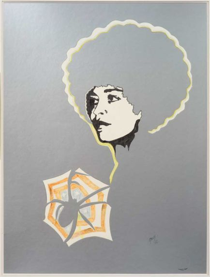 famous painting angela davis II of Evelyne Axell