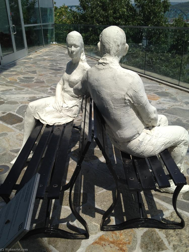 famous painting Couple on Two Benches of George Segal