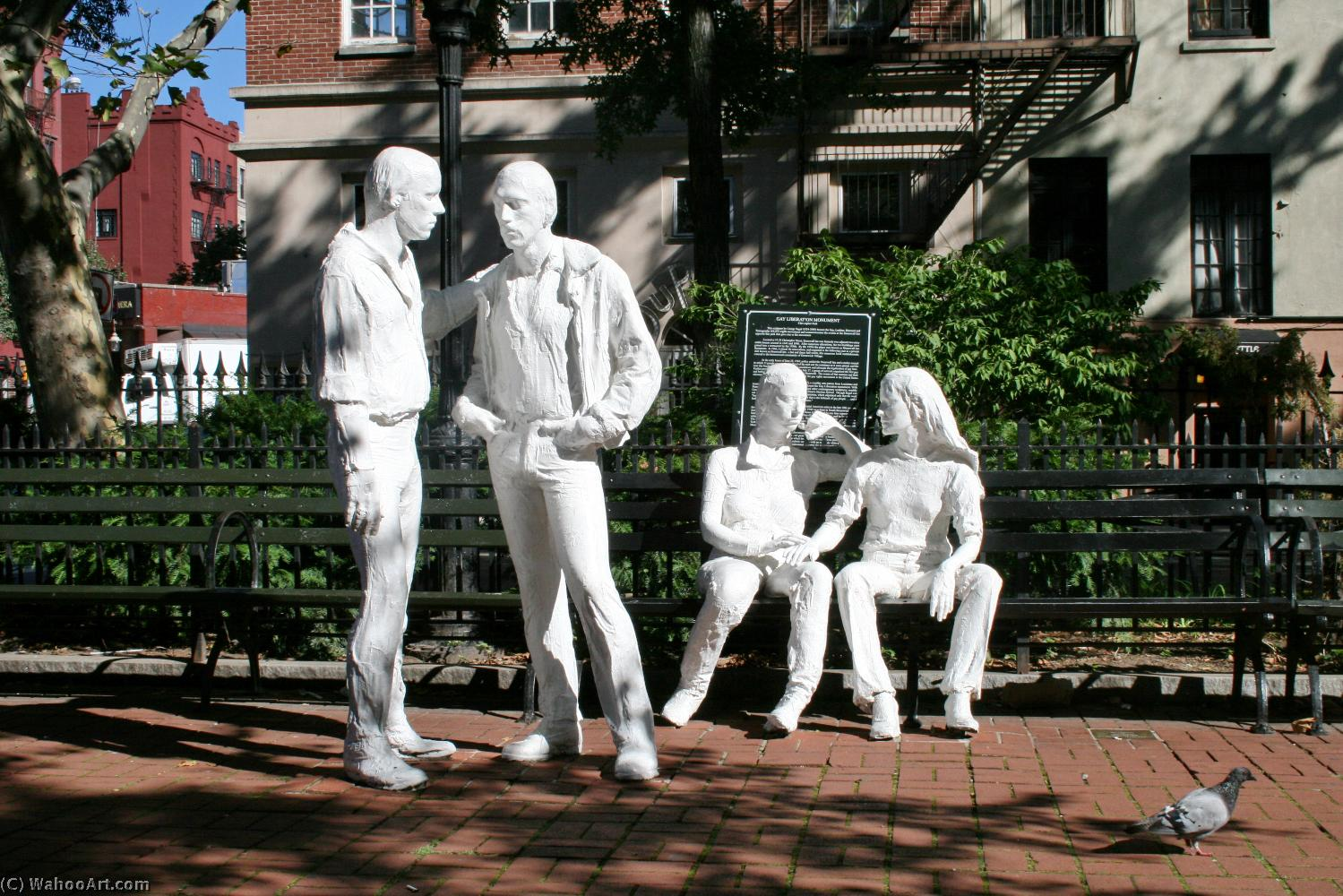 famous painting Gay liberation monument of George Segal