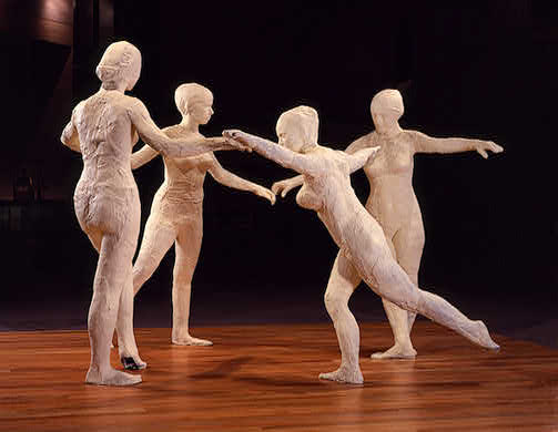 famous painting The dancers (2) of George Segal
