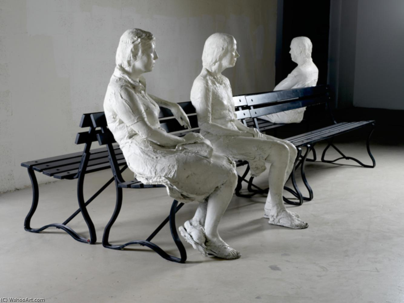 famous painting Three People on 4 Benches of George Segal