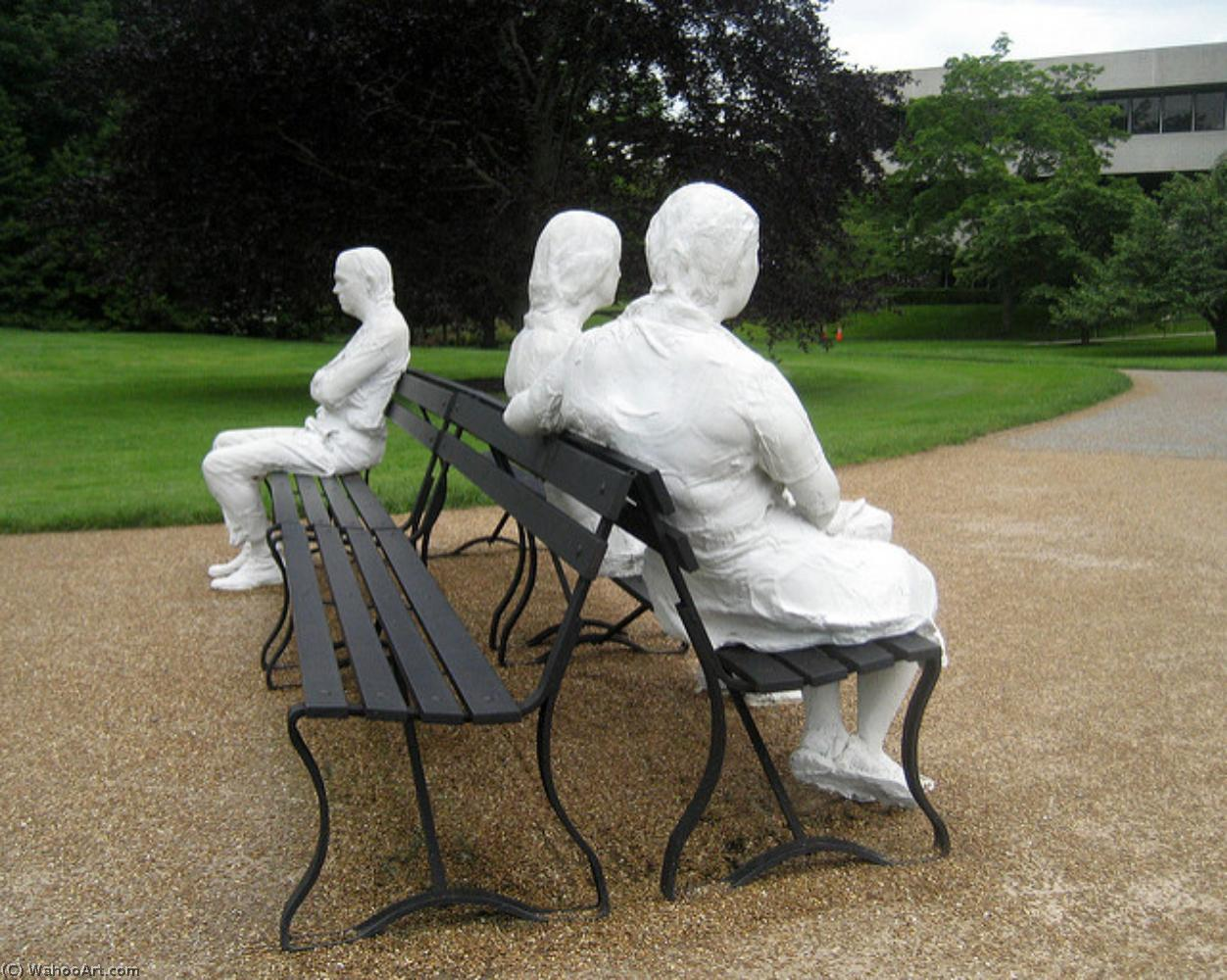 famous painting Three People on Four Benches of George Segal