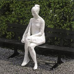 famous painting Woman on Park Bench of George Segal