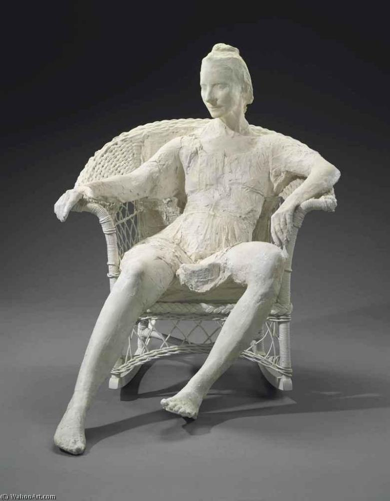 famous painting Woman on White Wicker Chair of George Segal